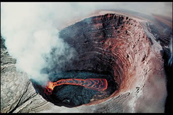 Lava Lake in Pu oo oo crater Hawaii USGS